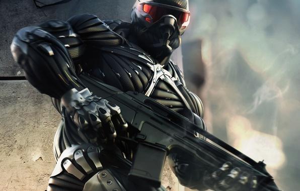 Картинка оружие, человек, нано, мощь, костюм, Crysis