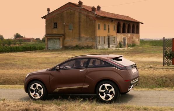Картинка Concept, концепт, X-Ray, коричневый, Lada, Лада, кроссовер, XRay