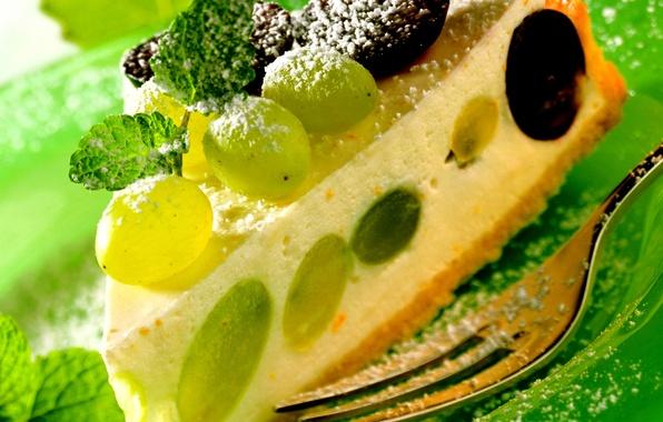 Картинка еда, торт, пирожное, фрукты, cake, десерт, food, grape, сладкое, fruits, dessert, чизкейк, cheesecake, винограда