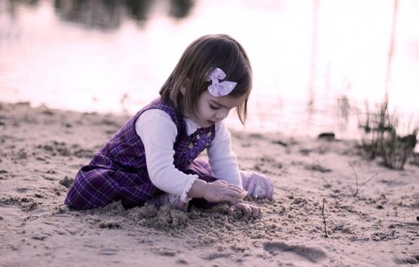 Картинка песок, настроение, девочка, ребёнок