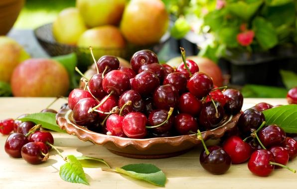 Картинка вишня, ягоды, миска, fresh, черешня, sweet, cherry, berries
