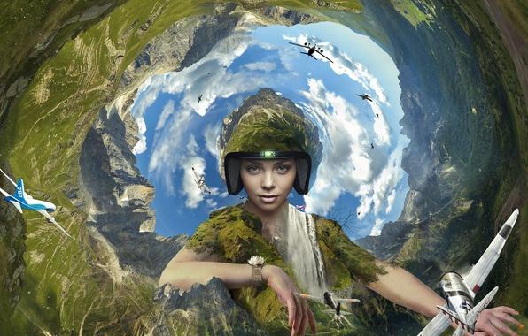 Картинка earth, air, aviation, pilot, effects