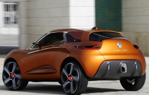 Картинка авто, Concept, обои, Renault, рено, задок, Captur