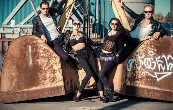 Картинка стиль, девушки, джинсы, очки, парни, модели, Katja Kalugina, Dmitry Barov, Daniel Federico Slemties, Alina Just, …
