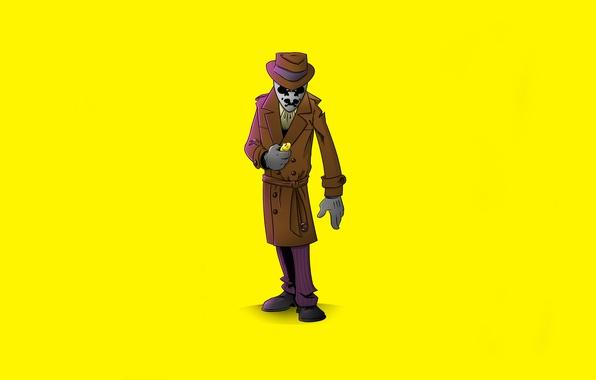 Картинка желтый, минимализм, Хранители, Watchmen, Роршах, Rorschach, Уолтер Ковач