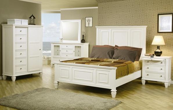 Картинка дизайн, дом, стиль, вилла, интерьер, коттедж, спальня, жилая комната