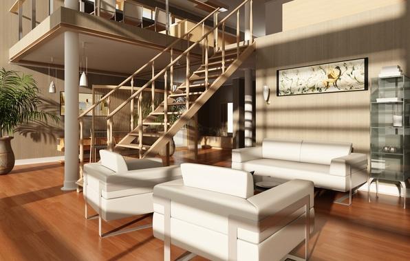 Картинка дизайн, стулья, современный, лестницы, квартира, роскошь, design, Интерьер, стильный, Modern, stylish, chairs, Luxury, Interior, stairs, ...