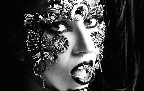 Картинка девушка, стиль, музыка, черный, женщина, темный, music, пирсинг, актриса, dark, певица, girl, black, fashion, знаменитость, …