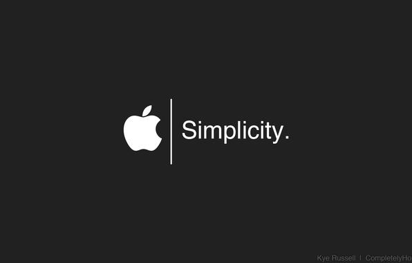 Картинка Apple, logo, white, black