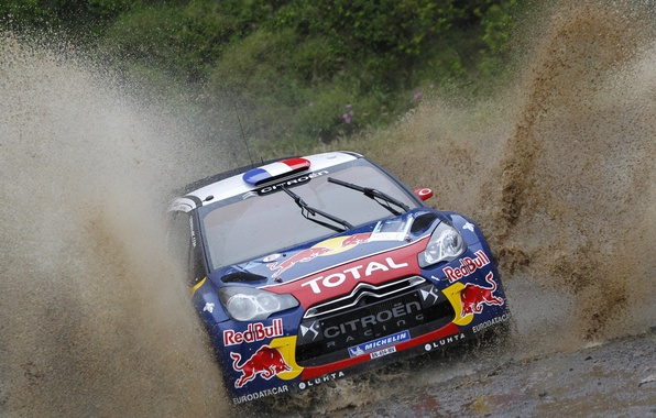 Картинка Гонка, Грязь, Citroen, Брызги, DS3, WRC, Rally, Ралли, Передок, Соревнования