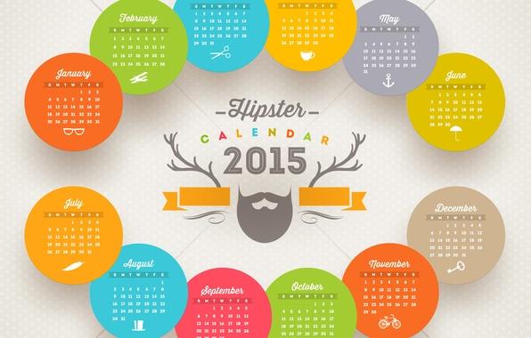 Картинка New, New year, Happy new year, 2015, Calendar, Calendar 2015
