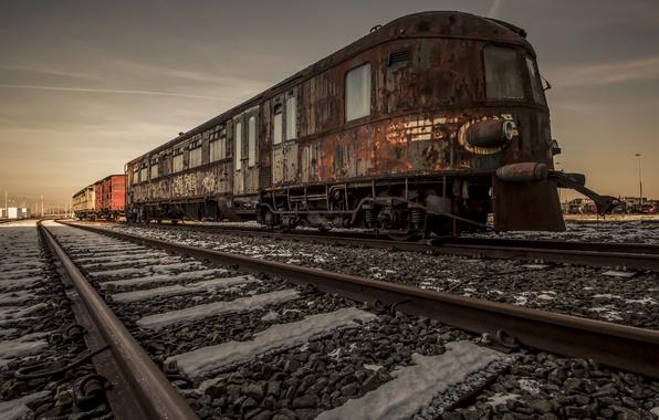 Картинка фон, поезд, железная дорога
