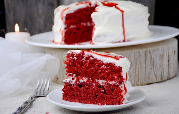 Фото обои red, cake, color