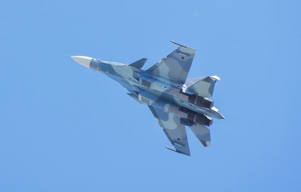 Картинка полет, крылья, истребитель, российский, многоцелевой, двухместный, Су-30СМ