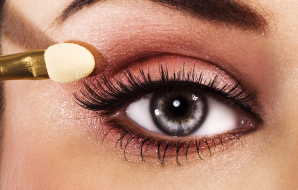 Картинка макро, глаз, ресницы, фото, макияж, тени, Make-up, beautiful eye