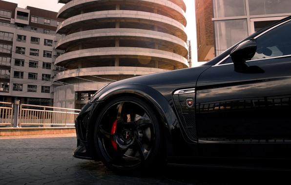 Картинка черный, тюнинг, Porsche, turbo, порше, black, mansory, tuning, panamera, панамера, турбо, мансори