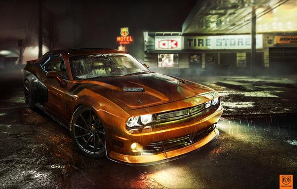 Картинка тюнинг, фотошоп, Dodge, Challenger