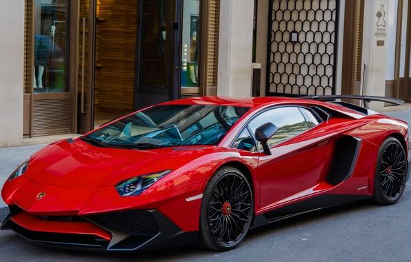 Картинка город, улица, Roadster, Lamborghini, суперкар, LP700-4, Aventador