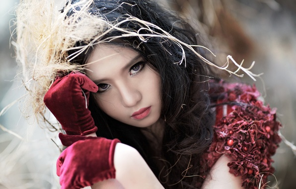 Картинка взгляд, девушка, азиатка, Mitu Kat