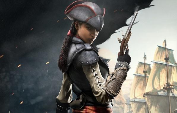 девушка пират обои