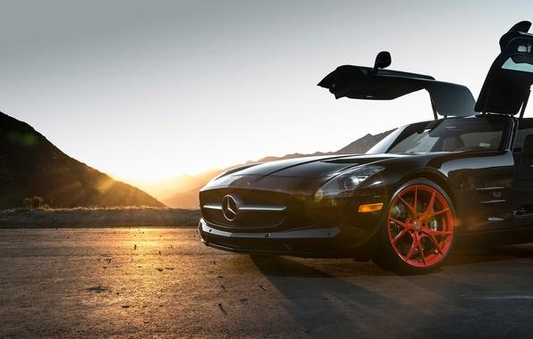 Картинка Mercedes-Benz, black, SLS, Klassen