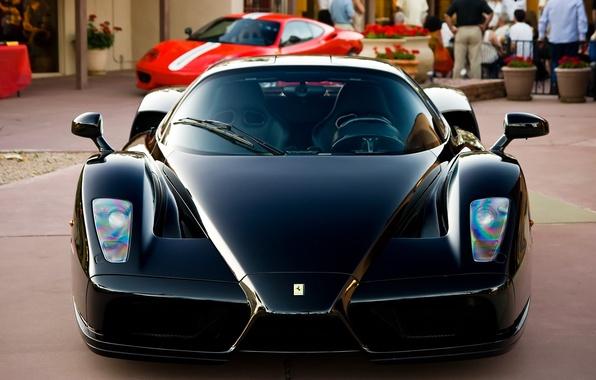 Картинка Черный, Машина, Феррари, Ferrari, Car, Автомобиль, Enzo, Black, Энзо