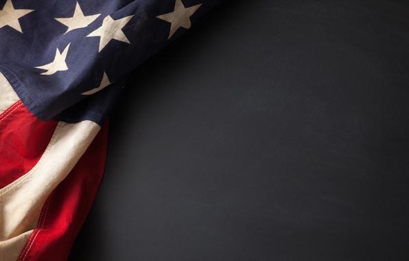 Картинка red, USA, blue, stars, flag, fabric