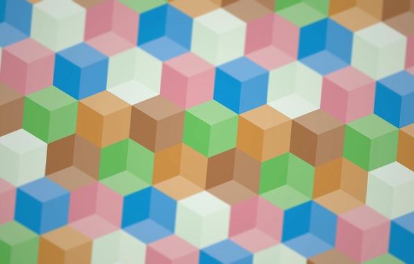 Картинка линии, узор, краски, текстура, кубик, грань, ребро