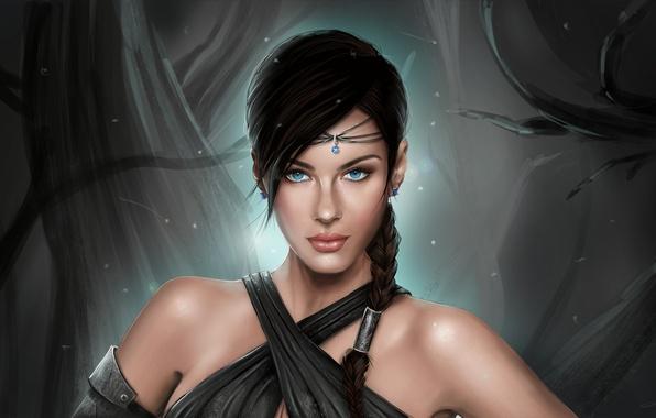 Картинка девушка, портрет, арт, fantasy