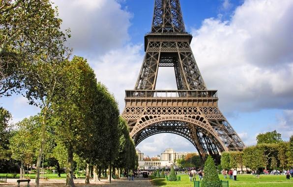 Картинка эйфелева башня, Париж, архитектура, франция, paris, france, Марсово поле