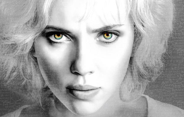 Картинка Scarlett Johansson, eyes, Lucy, lips, look, actress, enigma, riddle