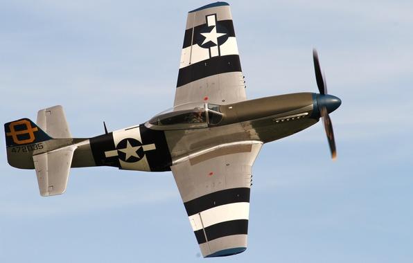 Картинка Mustang, истребитель, P-51D, одноместный
