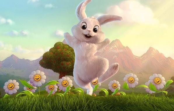 Картинка фантазия, рисунок, заяц