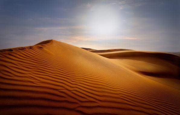 Картинка песок, небо, барханы, пустыня, дюны