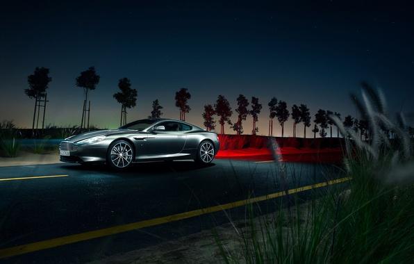 Картинка Aston Martin, Light, DB9, Front, Night, Supercar
