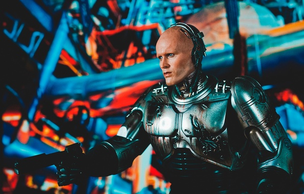 Картинка пистолет, оружие, игрушка, робот, броня, киборг, Робокоп, RoboCop