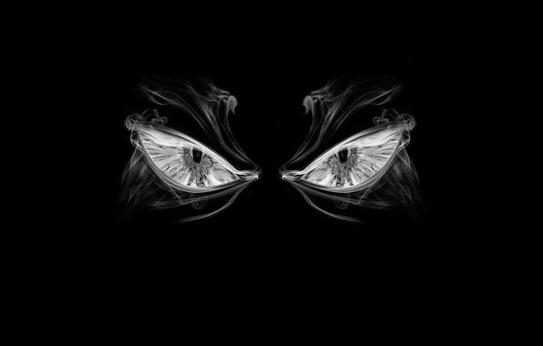Картинка глаза, злость, дымка, ненависть, Темнота