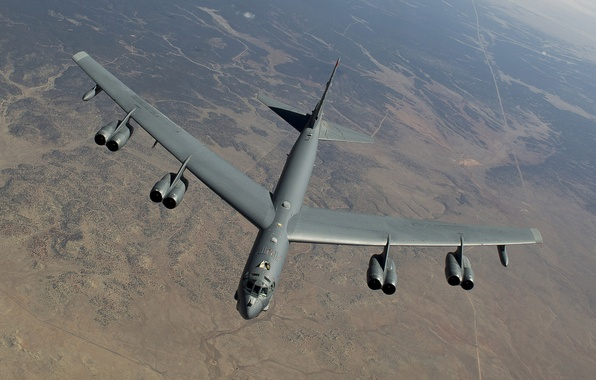 Картинка полет, Boeing, бомбардировщик, стратегический, тяжёлый, B-52, Stratofortress