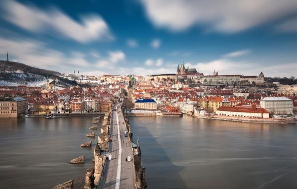 Картинка Prague, cityscape, Czech Republic, Charles Bridge, Stone Bridge, Vltava river, Prague Bridge, Peter Parler