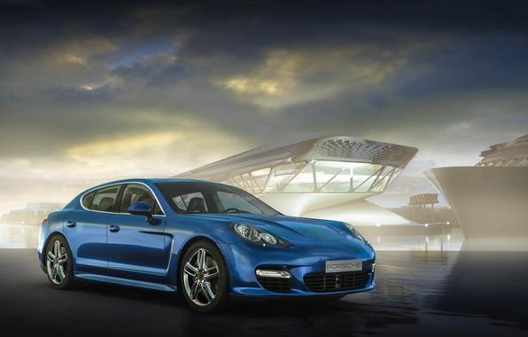 Картинка Porsche, Panamera, blue