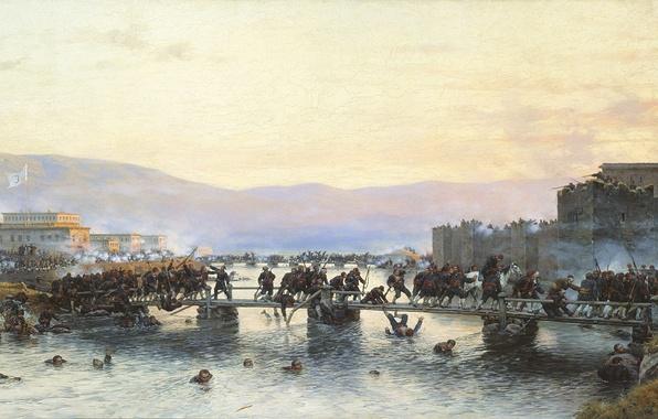 Картинка война, сражение, штурм, Кившенко Алексей Данилович, штурм крепости Агдагам