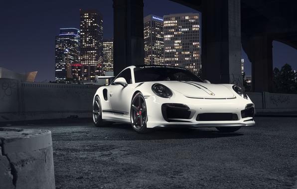 Картинка 911, Porsche, Front, Vorsteiner, White, Turbo, Edition, V-RT