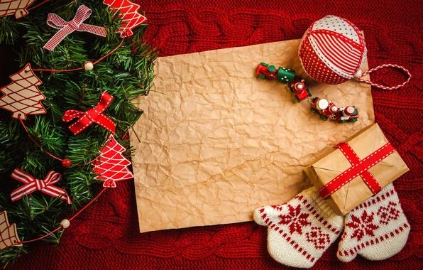Картинка украшения, ленты, праздник, Рождество, подарки, перчатки, Happy New Year, Christmas, коробки, Merry Christmas, holiday, decoration, …