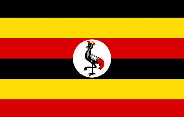 Картинка red, logo, black, yellow, Africa, Uganda