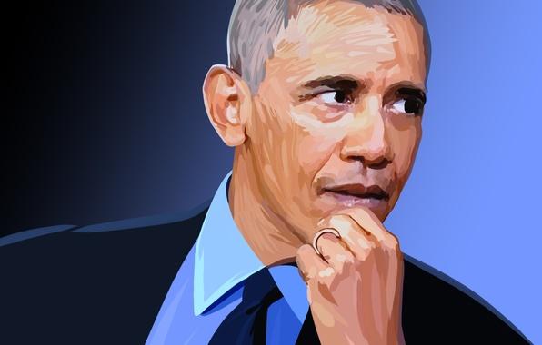 Картинка лицо, президент, Barack Obama, Барак Обама