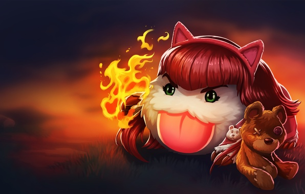 Фото обои Annie, Poro, lollatino.net, lol, League of Legends
