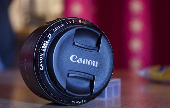 Картинка фон, черный, фотоаппарат, объектив, canon