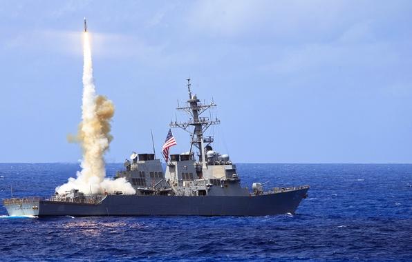 Картинка оружие, корабль, армия, Standard Missile 2 (SM-2), USS Curtis Wilbur (DDG 54)