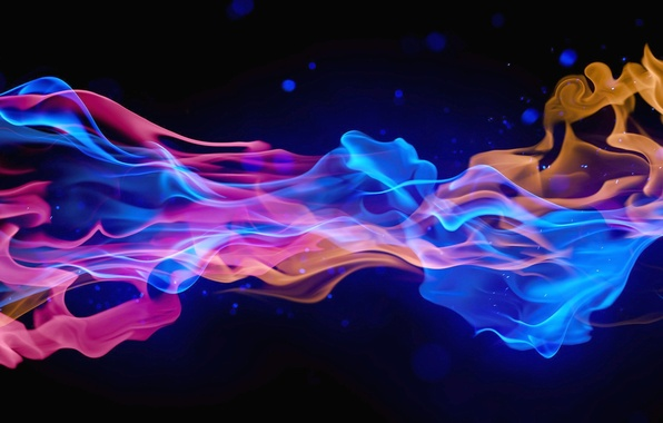 Обои абстракции цвета 3d дым картинки