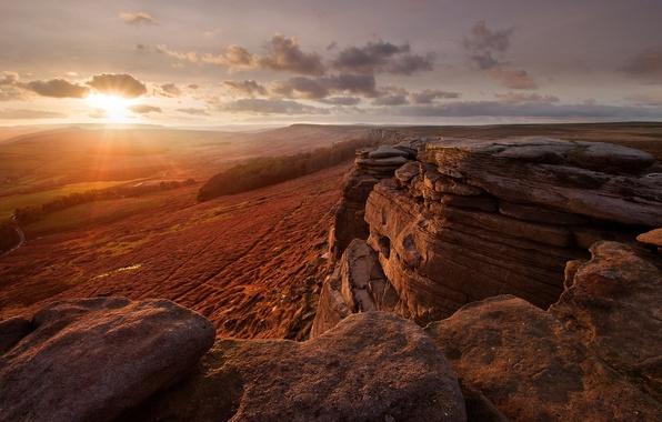 Картинка desert, rocks, Sunshine day